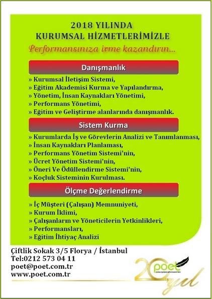 """20. Yılımızda Eğitim Programlarımızla Beraber """"Kurumsal Danışmanlık Hizmetlerimiz""""le Performansınıza İvme Kazandırın...www.poet.com.tr"""