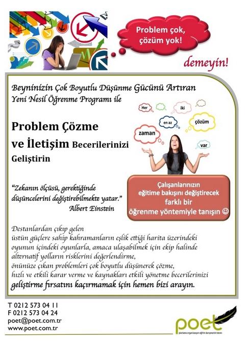 PROBLEM COZME VE İLETİŞİM BECERİLERİMİ GELİŞTİRİYORUM. www.poet.com.tr